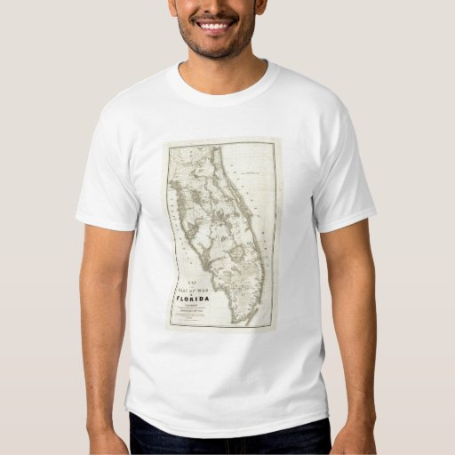 Map Of The Seat Of War In Florida T-Shirt