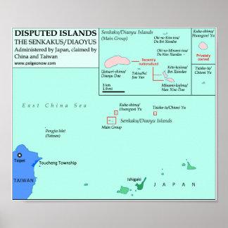 Map of the Senkaku/Diaoyu Islands Poster