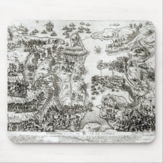 Map of the Siege of Malta in 1565 Mouse Pad