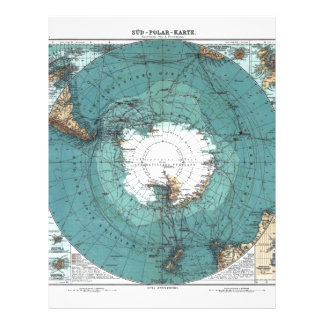 Map of the South Pole Letterhead
