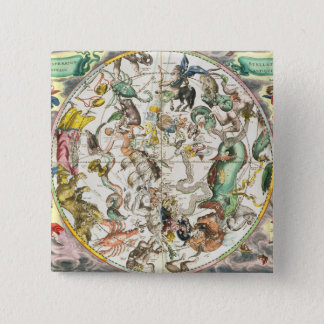 Map of the Southern Hemisphere, from 'The Celestia Pinback Button