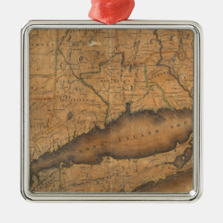 Map of the Southern part of the State of New York Metal Ornament