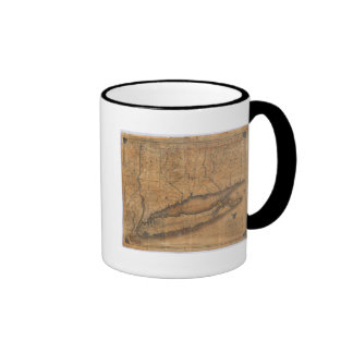 Map of the Southern part of the State of New York Ringer Coffee Mug