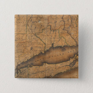 Map of the Southern part of the State of New York Pinback Button
