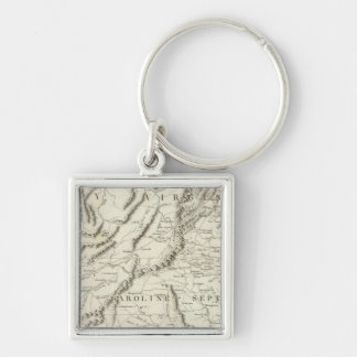 Map of the southern provinces of the United States Keychain