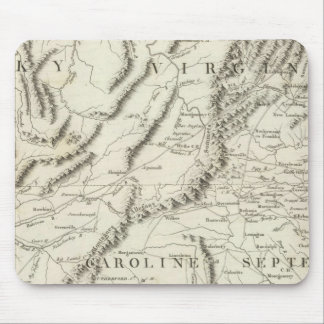 Map of the southern provinces of the United States Mouse Pad