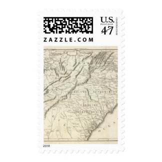 Map of the southern provinces of the United States Postage