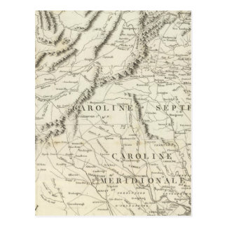 Map of the southern provinces of the United States Postcard