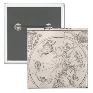 Map of the Southern Sky 2 Inch Square Button