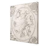 Map of the Southern Sky Canvas Print