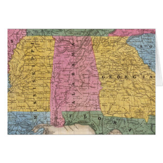 Map of the Southern States Card