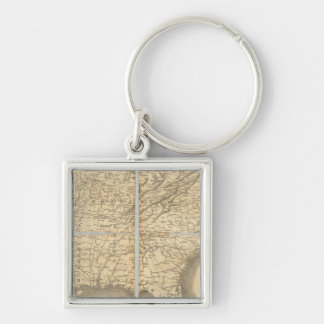 Map Of The Southern States Keychain