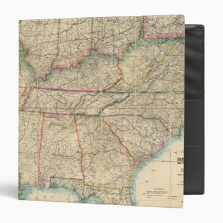 Map of The Southern States of America Binders