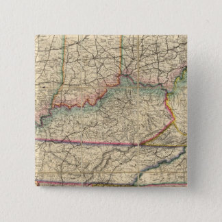 Map of The Southern States of America Button