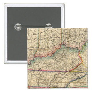 Map of The Southern States of America 2 Inch Square Button