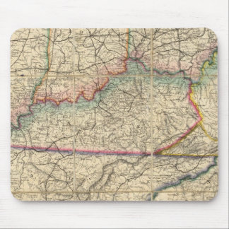 Map of The Southern States of America Mouse Pad