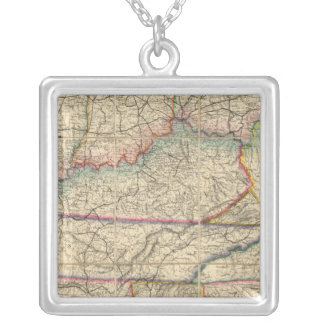 Map of The Southern States of America Necklaces