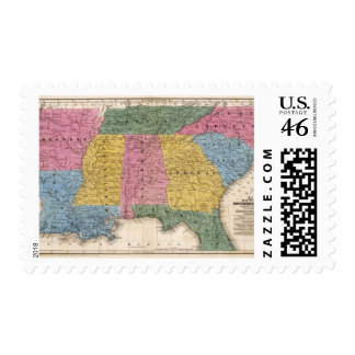 Map of the Southern States Stamps