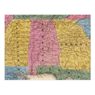 Map of the Southern States Post Card
