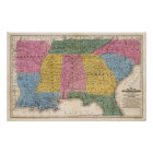 Map of the Southern States Poster