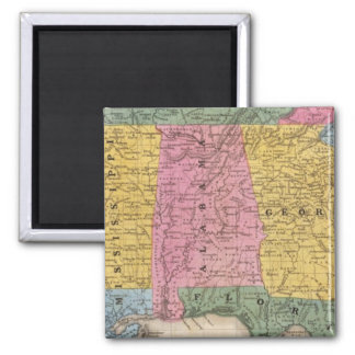 Map of the Southern States Refrigerator Magnets