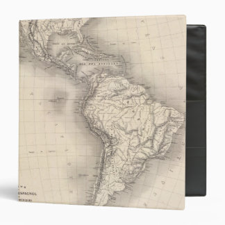 Map of the Spanish Empire in the Americas Binder