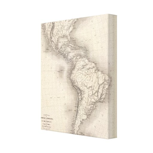 Map of the Spanish Empire in the Americas Gallery Wrap Canvas