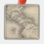 Map of the Spanish Empire in the Americas Christmas Tree Ornaments