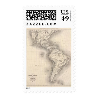 Map of the Spanish Empire in the Americas Postage