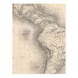Map of the Spanish Empire in the Americas Post Cards