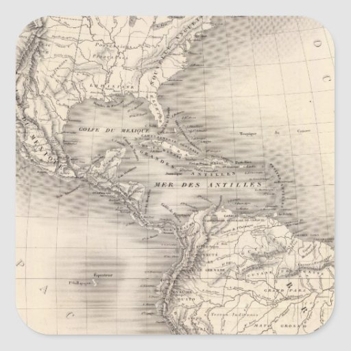 Map of the Spanish Empire in the Americas Sticker