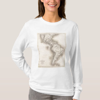 Map of the Spanish Empire in the Americas T-Shirt