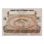 Map of the Square and Stationary Earth by Fergn Print