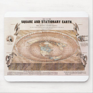 Map of the Square and Stationary Earth by Ferguson Mouse Pad