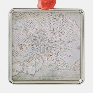 Map of the St. Lawrence Estuary 2 Metal Ornament
