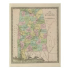 Map of the State of Alabama 2 Poster