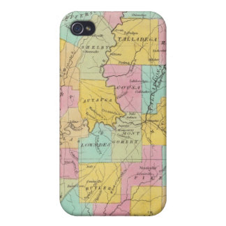 Map of the State of Alabama iPhone 4 Cases
