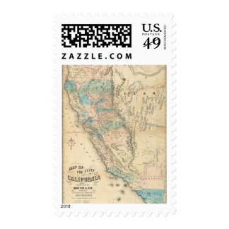 Map of the State of California Stamp