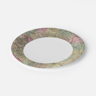 Map of the State of Colorado Paper Plate