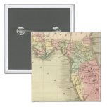 Map of the State of Florida 2 Inch Square Button