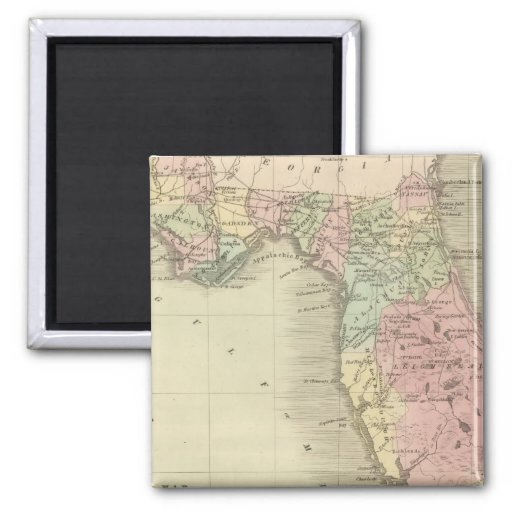 Map of the State of Florida Fridge Magnet