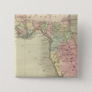 Map of the State of Florida Pinback Button