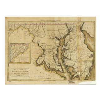 Map of the State of Maryland (1795) Card