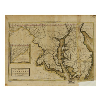 Map of the State of Maryland (1795) Poster