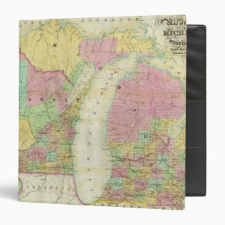 Map of the State of Michigan 3 Ring Binder