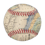 Map of the State of Michigan Baseballs