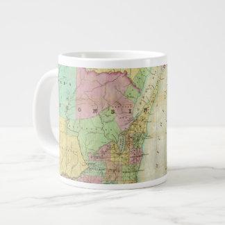 Map of the State of Michigan Large Coffee Mug