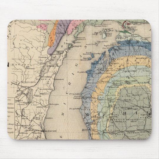 Map of the State of Michigan Mouse Pad