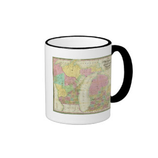 Map of the State of Michigan Mugs