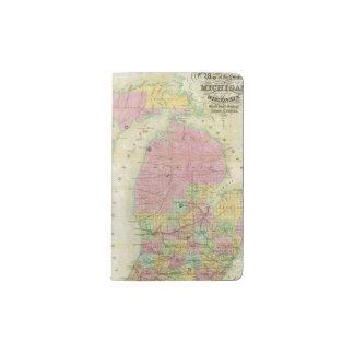 Map of the State of Michigan Pocket Moleskine Notebook